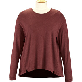 Alchemy Equipment Long Sleeve Pleated Relaxed T-shirt zippé Femme, wine